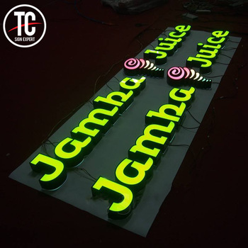 High Standard Led illuminated outdoor building front 3d letters