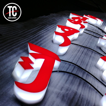 Wonderful led power red acrylic arabic letter