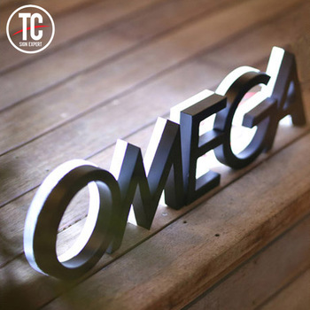 Stainless steel Led illuminated backlit Channel Letters for Shop /Mall/Outdoor Building Signage