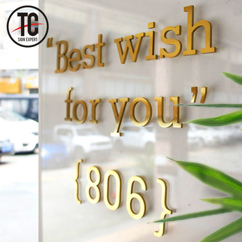 Laser cutting decorative house stainless steel soild letters