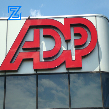 ZZC custom outdoor acrylic led signage board shop name sign board designs for sale material