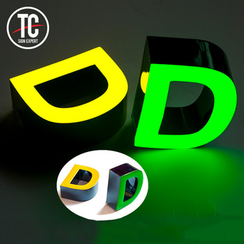 3D light box letter for all kinds of stores mall and street side advertising