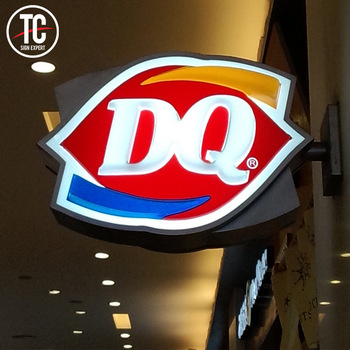 Shenzhen manufacture fast food/restaurant acrylic advertising signboard