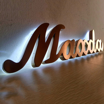 Advertising display outdoor lighted letters for buildings