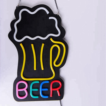 High brightness colorful Beer led neon light sign CE ROHS
