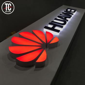 Wall mount shop door electric sign board advertising display led illuminate acrylic outdoor letter signs