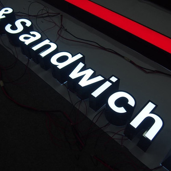 Outdoor electronic advertising letter signs
