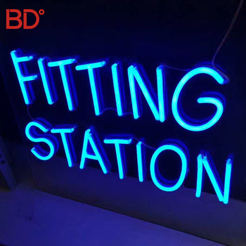 Custom Led Neon Sign China Outdoor Waterproof Blue color Flex Decorative Neon Letters