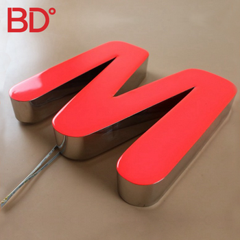 Led Epoxy Resin Letter Sign RGB Color Signs for business Company Logo Shop Name