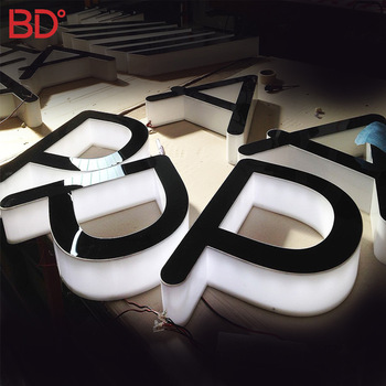 led acrylic sign board illuminated led edge sign waterproof 3d light box outdoor advertising for shop letter logo