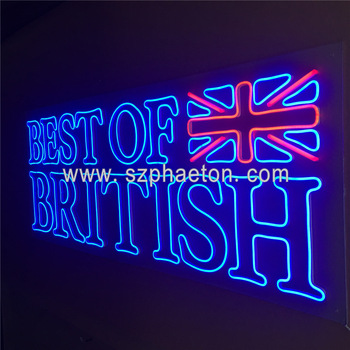 Outdoor electronic advertising board, led neon sign shop signs