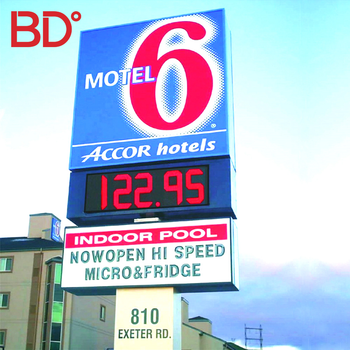 Outdoor Waterproof Advertising Led Gas Price Pylon Sign Free Standing Signage for Gas Station