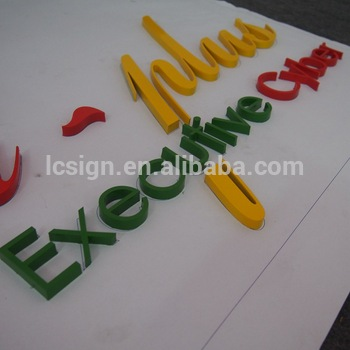 Advertising wall letters Sign Mirror Metal Gold Sign Letter stainless steel number