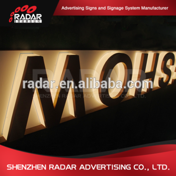 Shop opening signs LED diy reverse channel 3D halo lit letters