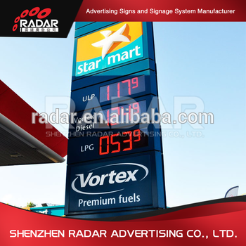 New creative style best sale sign for gas station price led sign board advertising canopy fascia sign