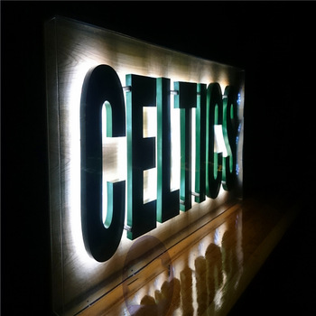 Custom wall mounted letters with lights channel letter lighting