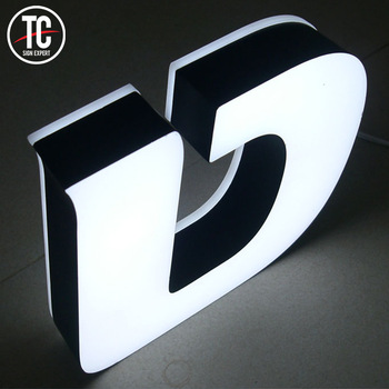 Wall Mounted Led Illuminated Outdoor Light Channel Store Front Led Signs