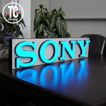 Led Signage Outdoor Light  Shop Name Board Designs Metal  Led Lighted Signs