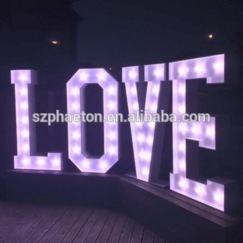 Wedding decoration led light up giant love letters