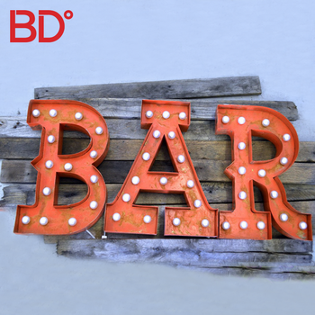 China Manufacturer Decorative Led Bulb Signs Custom Light up Letters 4ft Marquee Letters for Bar