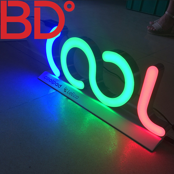 LED RGB Flexible Wholesale 3D Customized Sign/Wall Mounted Led Acrylic Signs and Billboards