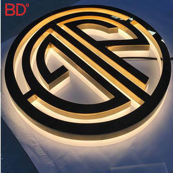 Free Design Led edeg lit sign letter light custom acrylic 3d sign led channel letters with halo effect for Business