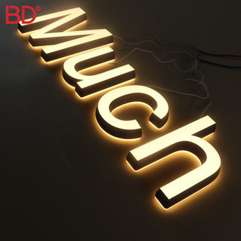 Led Illuminated Backlit Letters led Frontlit Signage acrylic 3D Signs Metal Design For Barber Shop Chain Store cosmetics