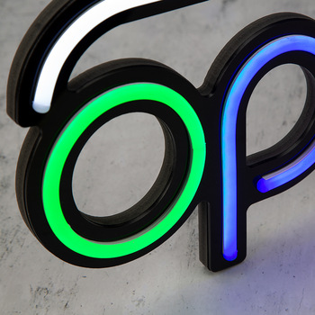 Personalized production led neon light sign, light control open retail store neon open sign