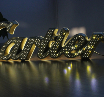 Vintage style marque led backlit sign letter for Bar shop