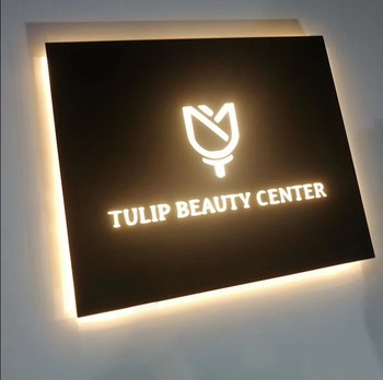 Economic low consumption indoor led office wall signs