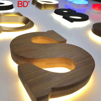 Stainless Steel Halo Effect With Reverse Channel Letters Backlit Lighting Sign Letters