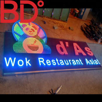 RGB Custom outdoor 3d led pepsi blue shop name programmable signs design wired 6 colors rgb letters