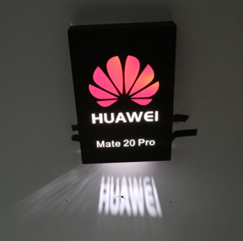 Huawei logo sign outdoor standing light box sign letters