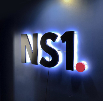Professional laser cut wall led light metal 3d backlit letter sign painting colors logo wall sign