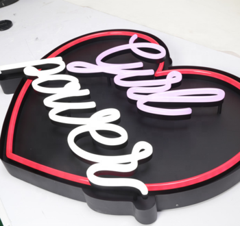 Cute logo sign Big Heart led neon sign light love light sign