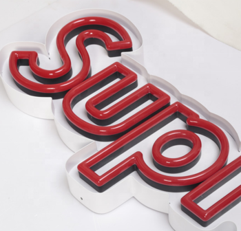 Red SUPERME brand double line led neon sign light  for shonsign