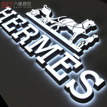 Led Backlit and frontlit Metal Letters Customized Acrylic Outdoor Advertising Sinage For Chain Store