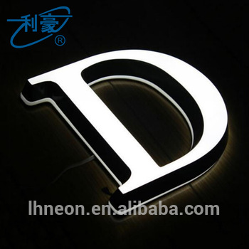 Hot sale outdoor different styles alphabet letters acrylic signage