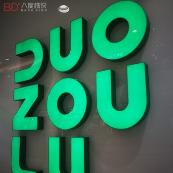 Epoxy Resin aluminium signage alphabet letters with lights Led outdoor sign Channel Letter