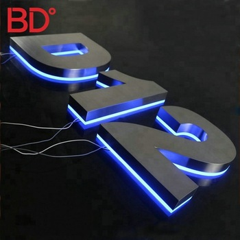 Perfect quality waterproof sign led backlit chinese decorative letters house numbers