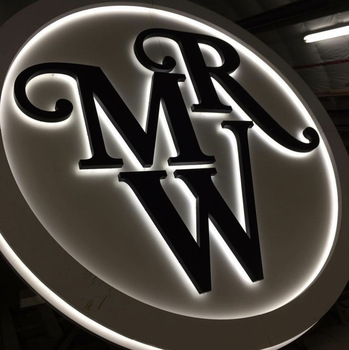 Indoor and outdoor laser cut acrylic stainless steel led 3d backlit letter sign