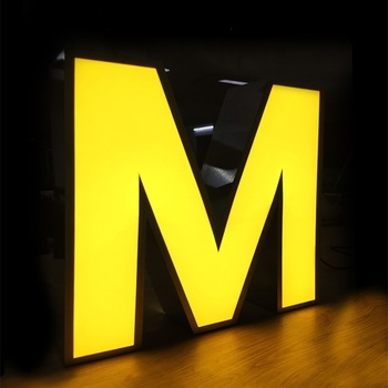 3D Outdoor Advertising Front lit Stainless Steel LED Metal Letter Sign