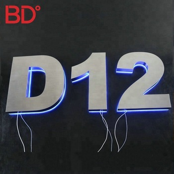 Stainless steel led backlit house number 3d led house numbers
