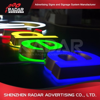High Quality 3d acrylic letters for snapback hat for Advertising Light Boxes