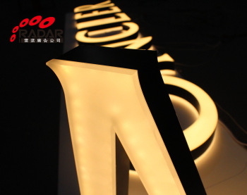 3D Acrylic Channel Letter Custom Advertising illuminated Signage for outdoor/indoor