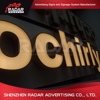 China supplier led powder coated aluminum returns channel letters