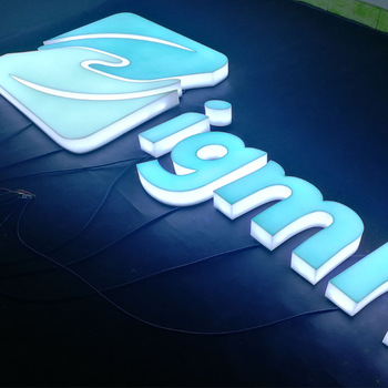 Business Advertising led acrylic letter sign and logo sinage for outdoor and indoor use