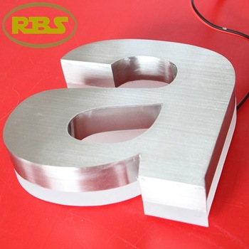 Outdoor commercial sign lighting advertising vacuum forming light letter