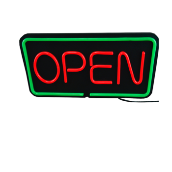 LED Flashing Light Neon Sign Open Board Outdoor/ Indoor Customized Shop Billboard Colorful Resin Flexible PVC/Resin
