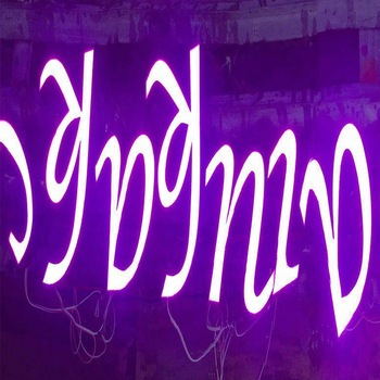 2019 New trend Competitive Price Resin Board LED Facelit Glow Letters
